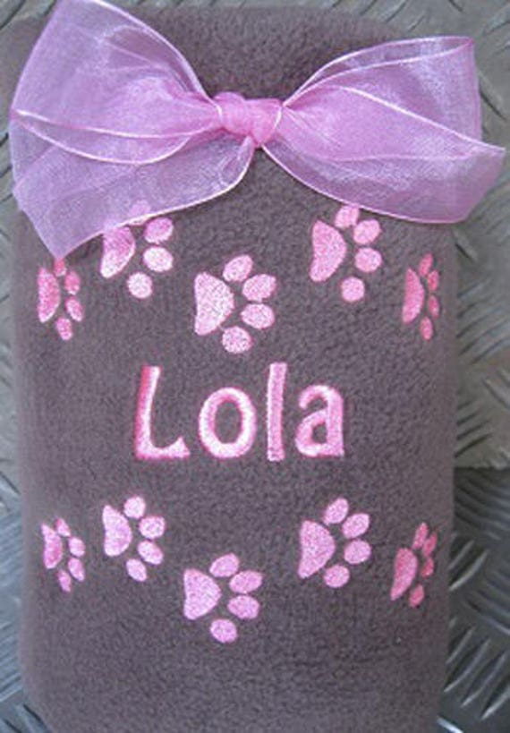 Dog Blanket, Personalised Blanket, Pet Blanket, Personalised Pet, Cat Blanket, Puppy Blanket, Kitten Blanket, Embroidered Blanket, Pet Name