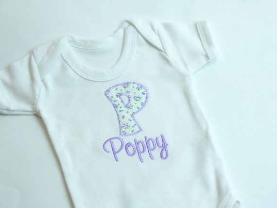 Baby Clothes, Personalised Clothes, Cotton Bodysuit,  Embroidered Clothes, Baby Shower Gift, Sizes Newborn 0-3m 3-6m, White Vest,