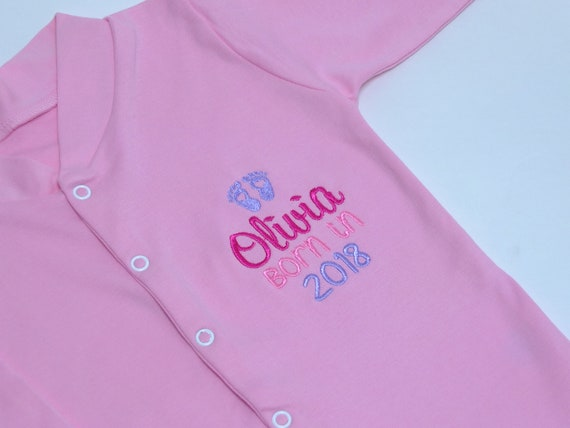 Baby Clothes, Baby Girl Clothes, Personalised Clothes, Sleepsuit, Onesie, New Baby Gift, Pink Baby Clothes, Baby Shower Gift, Newborn Gift