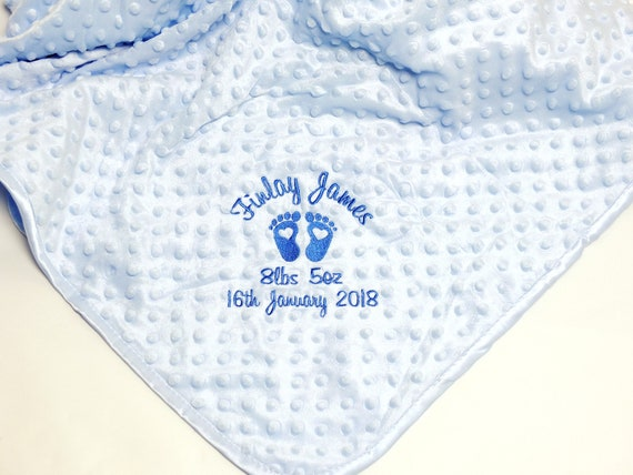 Baby Blanket, New Baby Gift, Personalised Baby Blanket, Baby Boy Blanket,Blue Bubble Blanket, Newborn Gift, Unique Baby Gift, Baby Boy Gift