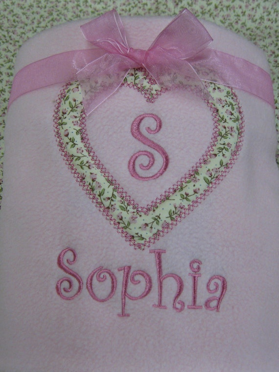 Personalised Pink Baby Blanket, Embroidered Blanket, Newborn Blanket, Christening Gift, Baby Girl Blanket, Cot Blanket, Custom Blanket,