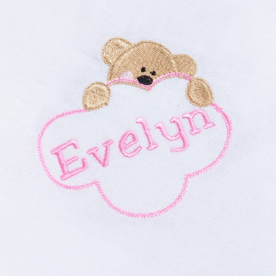 Personalised Muslin, Muslin Square, Embroidered Muslin, Muslin Cloth, Burp Cloth, Baby Girl Muslin, Personalised Gift, New Baby Gift