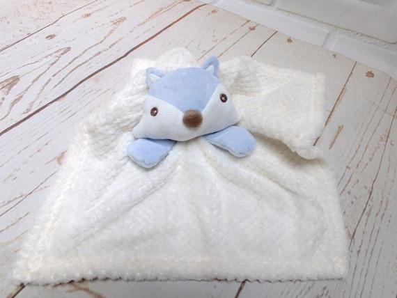 Personalised Baby Comforter, Baby Comfort Blanket, Baby Fox Comforter, Pink or Blue, Embroidered with Babies Name, Baby Girl Boy Comforter
