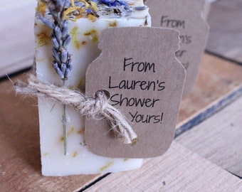 bridal shower favorswedding favorswedding favors rusticrustic wedding favorparty favor lavender calendula guest soap 2oz