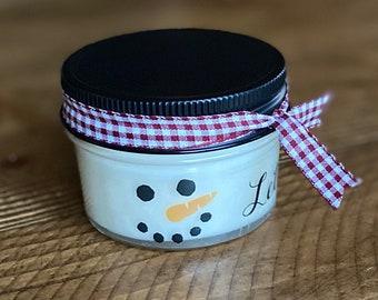 Holiday Candles, Christmas Candles, Christmas party favors, Soy Candles, Christmas Gift, Candle favors, secret sister gift, snowman decor