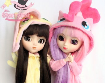 Cute Pinkie Pie and Futtlershy kigurumi for dolls!