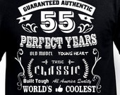 55th Birthday Gift For Man Father Uncle Husband Daddy Pop Papa Mom Funny T Shirt Tshirt Age Turning 55 Years Old Bday Born 1962