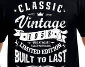Super Items op Etsy die op 60ste verjaardag cadeau voor vader T Shirt LW-93