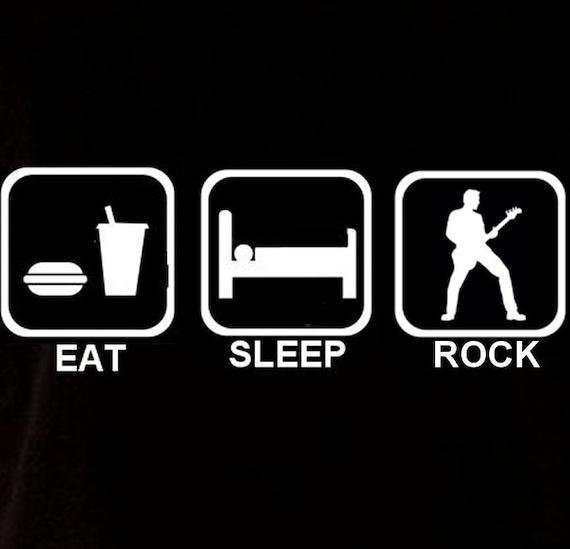 Eat Sleep guitar Men/'s sweat à capuche Sweat à Capuche Drôle Cadeau D/'Anniversaire Musique guitariste