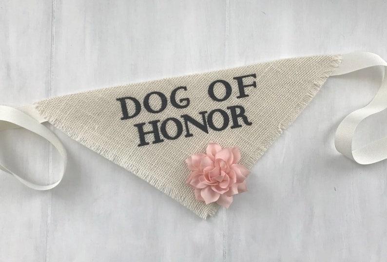 Flower Dog Pet Wedding Bandana Engagement Photos Save the Date Cards Collar Girl Flowers Fabric Roses Proposal