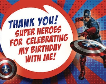 Wonder Woman Birthday Thank You Card Wonder Woman Thank You Etsy