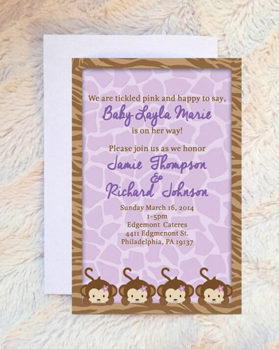 Cocalo Jacana Baby Shower Invitation Cocalo Jacana Baby