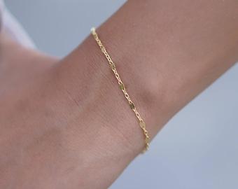 Thin Gold Bracelet, Dainty Chain Bracelet, Stacking Bracelet, Delicate Bracelet, Layering Bracelet, Minimal Bracelet, Everyday Bracelet, BFF