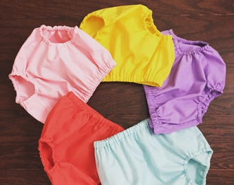 Solid Color Bloomers Girl Bloomers Diaper Cover Red Lavender Yellow Turquoise Pink