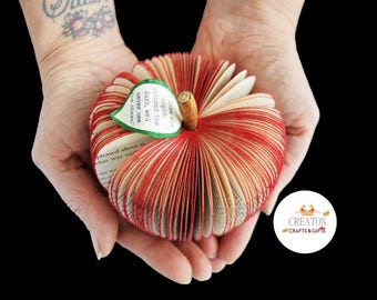 Harry Potter Gift - Personalised Harry Potter gift - Book Art Apple - Personalized Apple - Red Apple -  Handmade from a Harry Potter Book