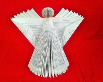 Book Art Angel Folded Christmas ornament