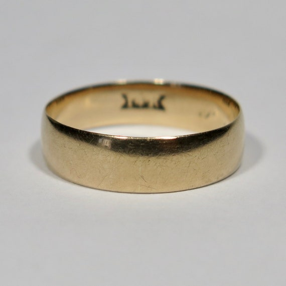 Antique Victorian 14K Gold Wedding Band Ring