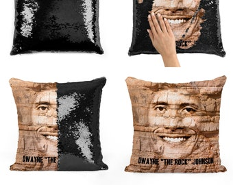Dwayne Johnson sequin pillow