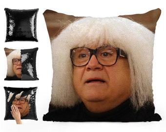Danny Devito Body Pillow.Danny Devito Sequin Pillow Sequin Pillowcase Two Color Etsy