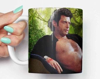 Ian Malcolm Jeff Goldblum Topless   Funny Mug, Gifts For Him, Meme Mug,