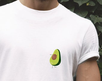 860423554518 Cute avocado t shirt | Pocket t shirt | Mens t shirt | Unisex t shirt |  Funny t shirt | Pocket tee | Gift for him | 9M073