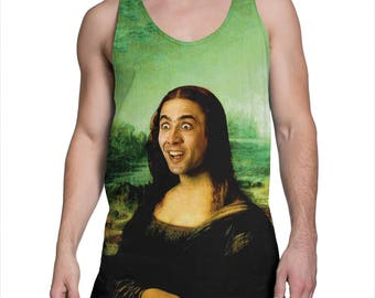 d65bd1ffd5613 Nicolas Cage everywhere tank top Funny tanktop Meme tank top
