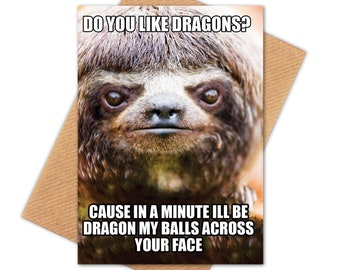 Sloth Happy Birthday Etsy