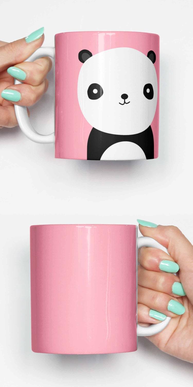 s e pastell rosa panda lustige becher geschenke f r ihn. Black Bedroom Furniture Sets. Home Design Ideas