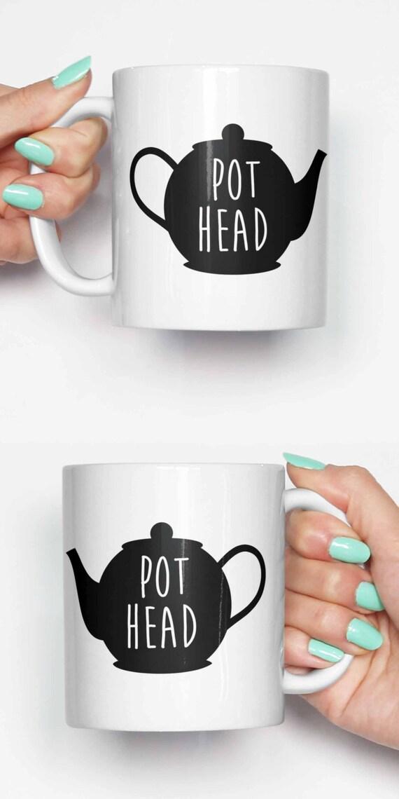 Topf Kopf Teekanne lustige Becher Geschenke für ihn Meme | Etsy