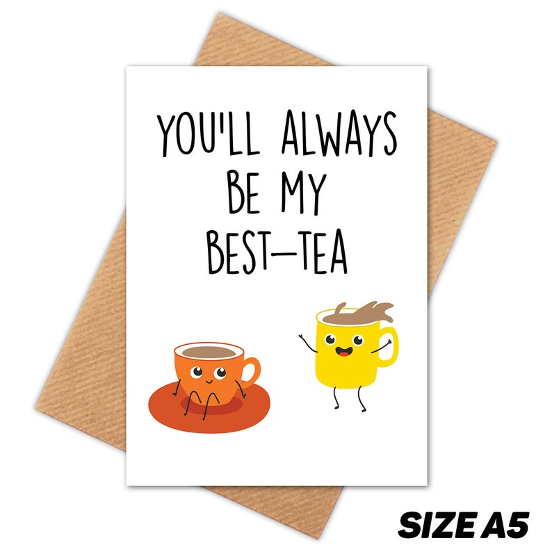 Best Tea Bestie Happy Birthday Card Friend