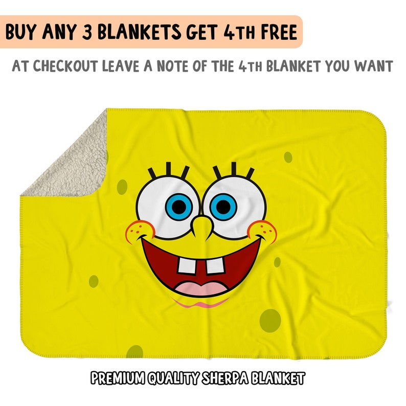 Snuggle in The Cold Weather With Spongebob Fleece Blanket