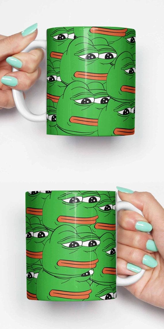 Pepe traurig Frosch Meme lustige Becher Geschenke für ihn | Etsy
