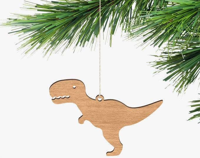 Tyrannosaurus Rex Christmas Ornaments - Tasmanian Oak Wood
