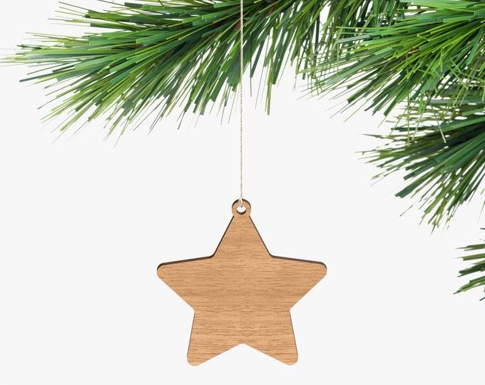 Star Christmas Ornament - Tasmanian Oak Wood
