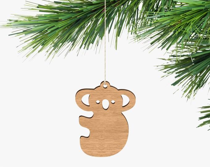 Koala Christmas Ornament - Tasmanian Oak Wood