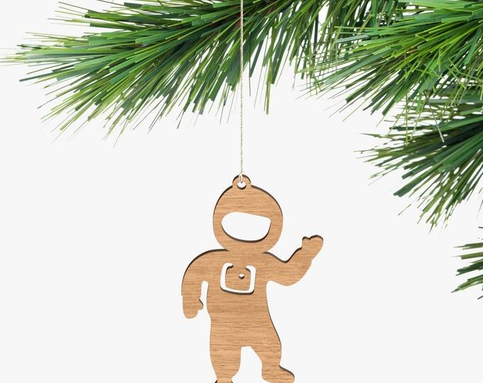 Astronaut Christmas Ornament - Tasmanian Oak Wood