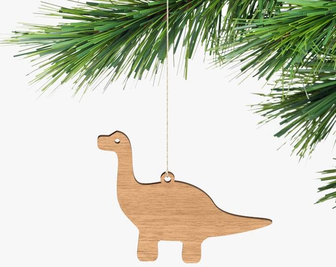 Apatosaurus Christmas Ornaments - Tasmanian Oak Wood
