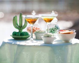 Mint linen tablecloth -  Mint wedding tablecloths - Beach wedding table decor - Pale green tablecloths - mint green table cover
