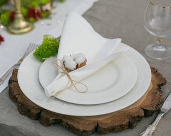 Wedding napkins set 50 - Bridal shower napkin cloths - wedding napkin cloths in ivory, white, grey - Wedding table decor - Express shipping