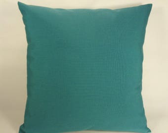 Teal Pillow Cover, Outdoor Pillow, Indoor Outdoor Pillow