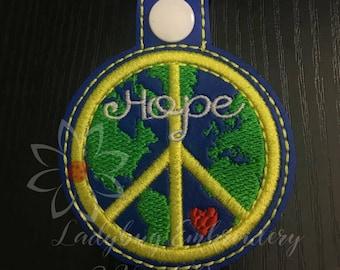 Peace Love & Hope Key Fob