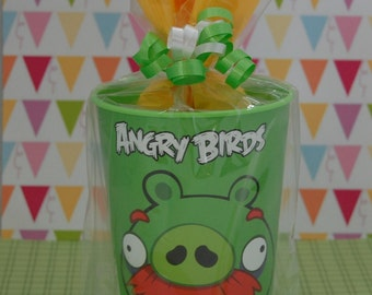 Kids Pre Made Goody Bags Green Bad Piggies Birthday Party Thank You Gifts