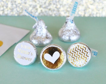 Hershey Kiss Labels / Wedding Favor / Stickers for Candy Kisses / Personalized Hershey Kiss Favor Labels (set of 108)