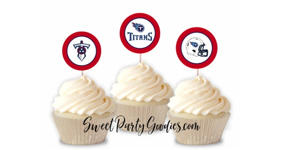 INSTANT DOWNLOAD Tennessee Titans Football Cupcake Toppers  720a64ff9