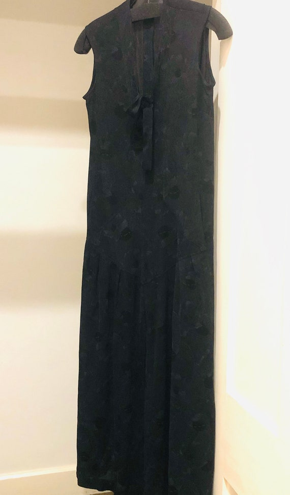 Vintage Long  Dress Jean Muir Black 12 HARDLY WORN