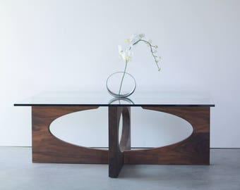 Modern Coffee Table, Walnut Coffee Table, Unique Coffee Table, Coffee Table, Wooden Coffee Table, Mid Century Modern Coffee Table