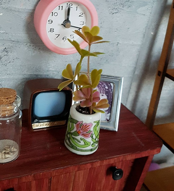 miniature plants 16 scale  1:6 onesixth bjd blythe pullip barbie Doll house decorating accessories Lot of 4 plants