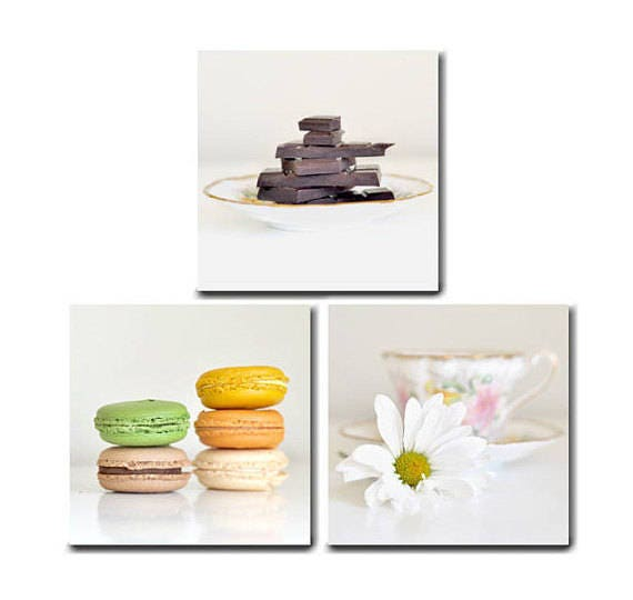 Food Photography Modern Kitchen Art Food Canvas Art Prints Dining Room Canvas Kitchen Canvas Set Of 3 Food On White Large Wall Art Decor