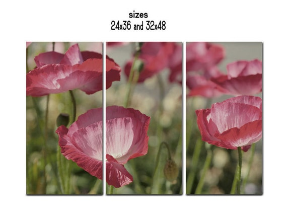 3 piece wall art canvas 3 panel wall art flower extra large   Etsy