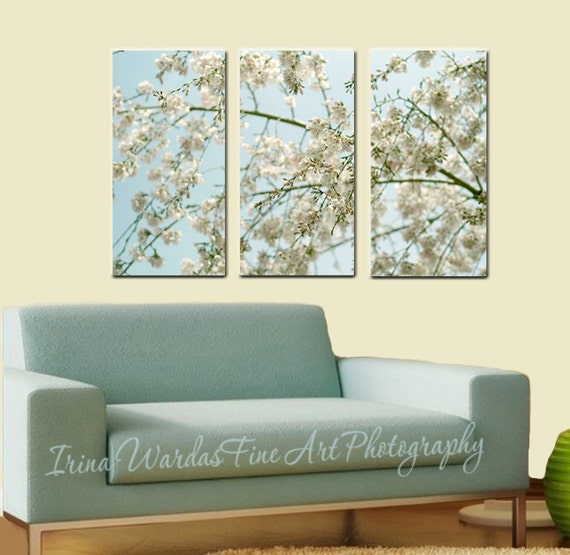 3 panel wall art nature 3 piece wall art Cherry Blossom | Etsy
